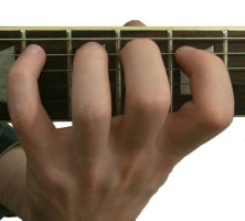 guitar fretting hand position – the thumb