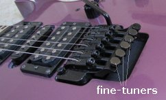 Fine-Tuners on Ibanez Edge III Tremolo