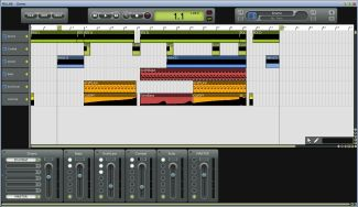 A snapshot of Mu.Lab (previously named Luna) audio editing software