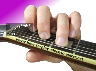Playing C Chord on the Guitar - a Fretting Hand Close-Up